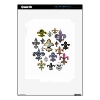 Fleur De Lis Flor  New Orleans Jewel Sparkle Skins For The iPad 2