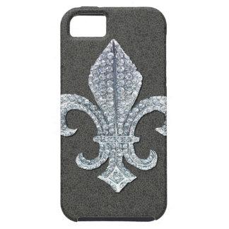 Fleur De Lis Flor  New Orleans Stone Jewel iPhone 5 Case