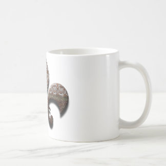 Fleur De Lis Flor Symbol Logo Brown New Orleans Coffee Mug
