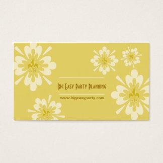 Fleur de Lis Flower Business Card