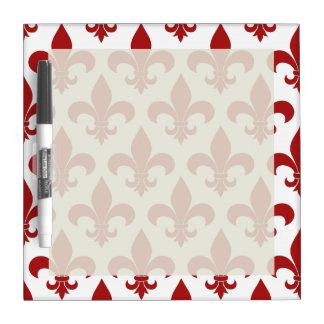 Fleur de lis French Pattern Parisian Design Dry Erase Board