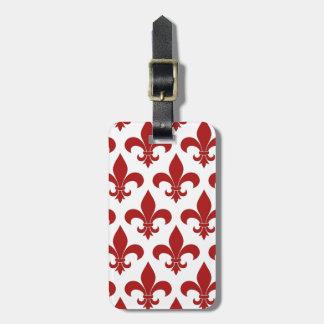 Fleur de lis French Pattern Parisian Design Tag For Bags
