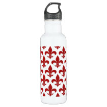Fleur de lis French Pattern Parisian Design Stainless Steel Water Bottle