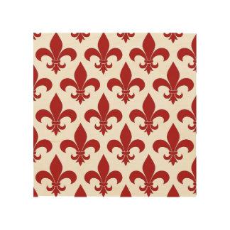 Fleur de lis French Pattern Parisian Design Wood Prints