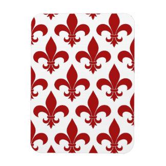 Fleur de lis French Red Symbolic Magnet