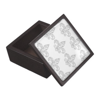 Fleur de Lis French Script Keepsake Box