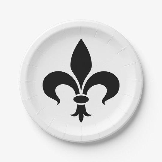 Fleur de Lis French Themed Party Paper Plates  sc 1 st  Zazzle & Fleur de Lis French Themed Party Paper Plates | Zazzle.com