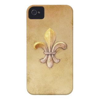 Fleur_de_lis iPhone 4 Case-Mate Protectores