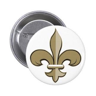 Fleur de lis - Gold and black 2 Inch Round Button