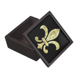 Fleur De Lis Gold Leaf Gift Box