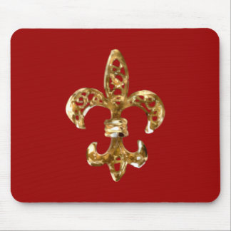 Fleur De Lis Gold Mousepad