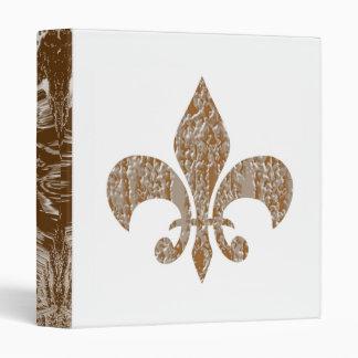 Fleur de Lis :  Gold n Silve Engraved Art 3 Ring Binders