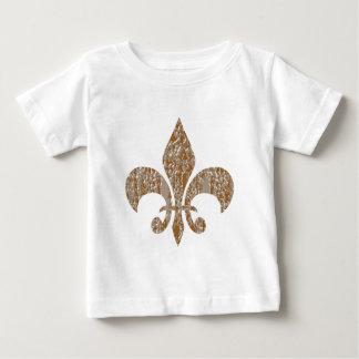 Fleur de Lis :  Gold n Silver Engraved T Shirt
