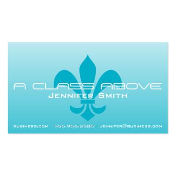 Fleur de Lis Gradient Faded Light Choose Any Color Business Card Templates