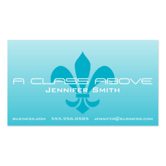 Fleur de Lis Gradient Faded Light Choose Any Color Double-Sided Standard Business Cards (Pack Of 100)