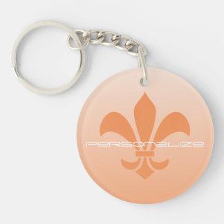 Fleur de Lis Gradient Faded Light *Pick Any Color* Keychain