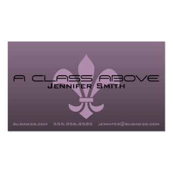 Fleur de Lis Gradient Shaded Dark Choose Any Color Business Card