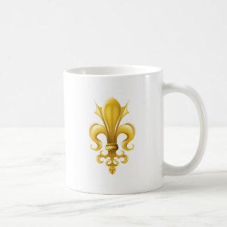 Fleur-de-lis graphic coffee mug