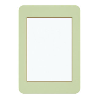 Fleur de Lis Green for French Chateau Wedding 3.5x5 Paper Invitation Card