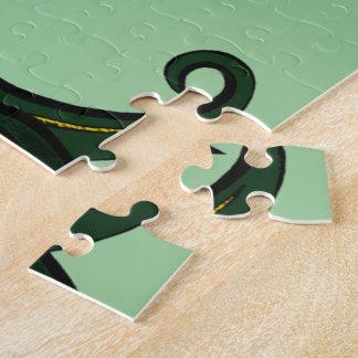 Fleur de lis Green/gold Puzzle