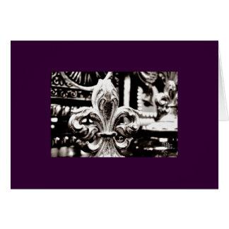 Fleur de Lis [Greeting Card] on Purple Greeting Card