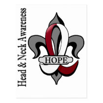 Fleur De Lis Head Neck Cancer Hope Postcard