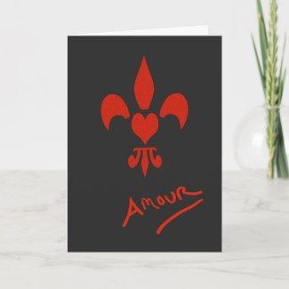 Fleur de Lis Heart Amour Valentine Card