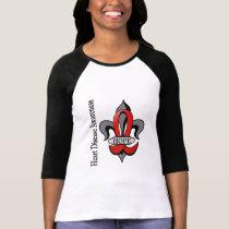 Fleur De Lis Heart Disease Hope Tee Shirt