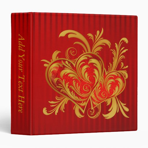 Fleur-de-lis Hearts Vinyl Binder
