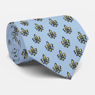 Fleur-de-lis Heraldic Sky Blue Two-sided Tie