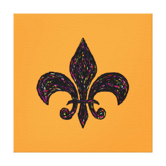 """Fleur de Lis Highway ~CHANGE COLOR 16x16/.75""""Thick Canvas Print"""