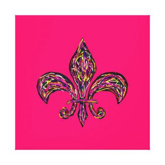 """Fleur de Lis Highway ~CHANGE COLOR 40x40/2.5""""Thick Canvas Print"""