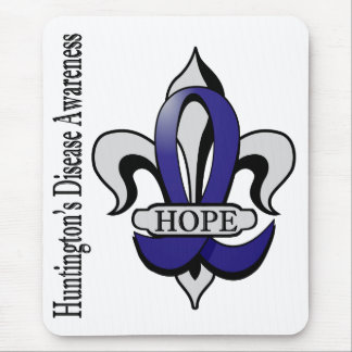 Fleur De Lis Huntington's Disease Hope Mouse Pad
