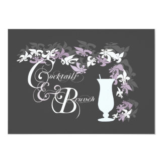 Fleur de Lis Hurricane Cocktails and Brunch Card