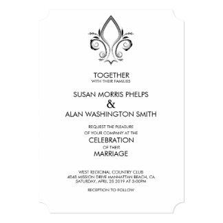 Fleur De Lis Icon Wedding Invitation