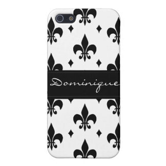 Fleur de Lis in Black and White Cover For iPhone 5