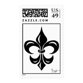 Fleur de Lis in Black Stamps