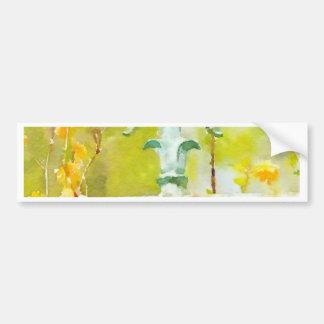Fleur de lis in Giverny Bumper Sticker