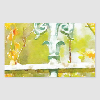 Fleur de lis in Giverny Stickers