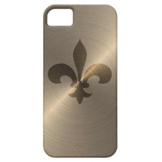 Fleur De Lis In Gold iPhone SE/5/5s Case