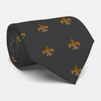 Fleur de lis in mocha Zazzle Tie