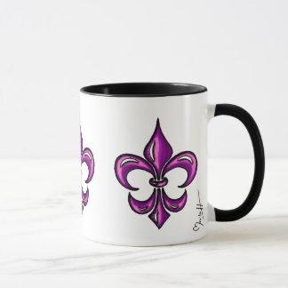 Fleur de Lis in Purple Lavender Mug