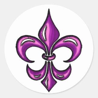 Fleur de Lis in Purple Lavender Stickers