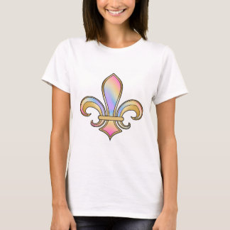 Fleur de Lis in shaded rainbow colors  - 5 T-Shirt
