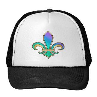 Fleur de Lis in shaded rainbow colors  - 6 Trucker Hat