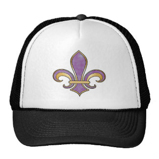 Fleur de Lis in solid color  - Purple Plum Grape Trucker Hat