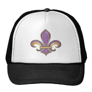 Fleur de Lis in solid color  - Purple Plum Grape Trucker Hat