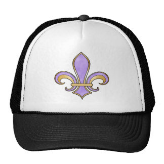 Fleur de Lis in solid color  - Purple Trucker Hat