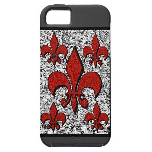 Fleur-De-Lis, iphone-5 iPhone 5 Covers
