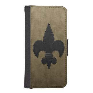 Fleur De Lis iPhone SE/5/5s Wallet Case